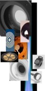Collage photograph of various BAT transducers available at MicroAcoustic.